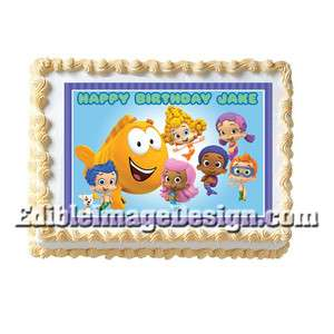 BUBBLE GUPPIES Edible Cake Party Image Topper Supply