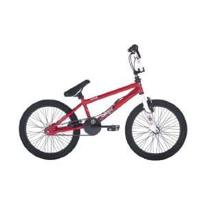 Raleigh Burner Chaos BMX Bike   Red and White: .co.uk: Sports