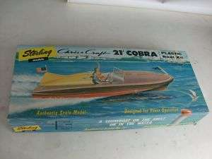 STERLING CHRIS CRAFT COBRA SPEED BOAT MODEL KIT MIB |