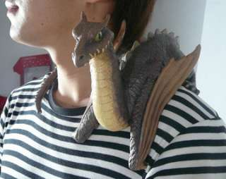 Shoulder Dragon, Baby. 7 1/2 tall x 26 long Designed to ride on your