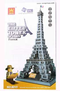 The Eiffel Tower of Paris Building Block Bricks Architecture Toys