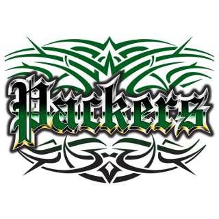 Packers Tattoo Style T shirt Green Bay S M L XL 2X 3X