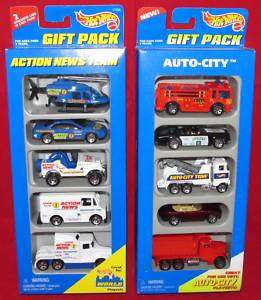 Hot Wheels Gift Pack 15069 Auto City 17456 Action News