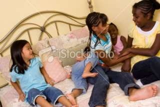 Little girls tickling Royalty Free Stock Photo