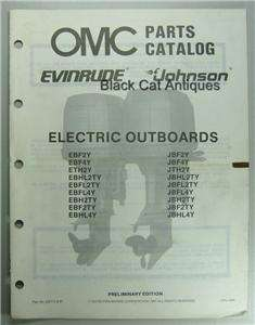 1987 OMC Evinrude Johnson Electric Outboards Parts Catalog