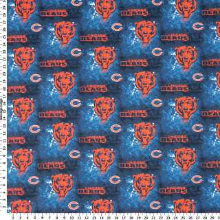 NFL   NFL Chicago Bears on Blue Cotton Fabric