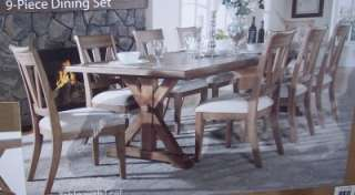 Universal Garrison 9 pc Dining Room Set RETAIL $2400.00