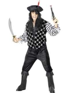Costume Carnevale uomo Pirata nero # 7995 Tg. Large