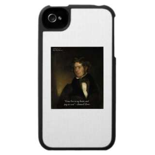 Samuel Lover Rent Free Heart Love Quote Gifts Case For The Iphone 4
