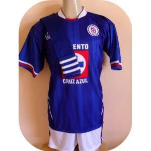 CRUZ AZUL MEXICO SOCCER TEAM UNIFORM JERSEY/SHORT/SOCKS