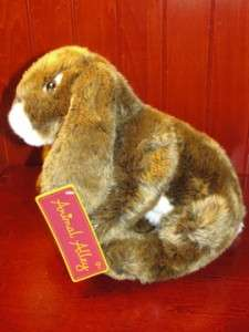 Animal Alley Bunny Rabbit Plush Stuffed Animal Brown White NWT TOYS R