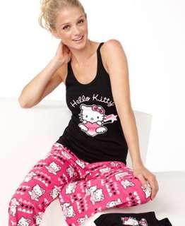 Hello Kitty Pajamas, Tank Top, Boxer Shorts anda Pajama Pants Set