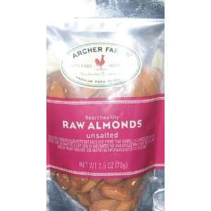 Archer Farms Raw Almonds Unsalted 2.5oz Grocery & Gourmet Food