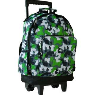 Wildkin Camo High Roller Rolling Backpack Bags