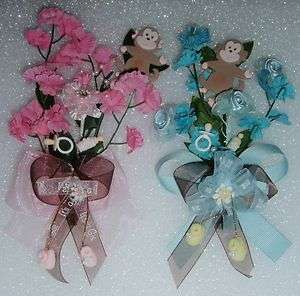 BABY SHOWER JUNGLE SAFARI MONKEY CORSAGE MOTHER TO BE