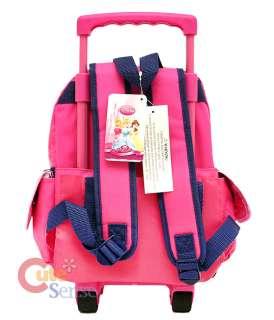 Disney Princess Roller Backpack Rolling Bag Pink M 12