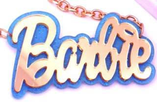 Barbie Acrylic Baby Blue Pendant Nicki Minaj Necklace