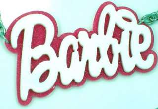 New Barbie Acrylic Pink White Pendant Nicki Minaj Necklace