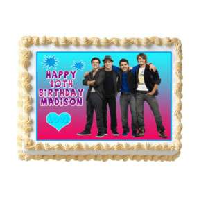 BIG TIME RUSH Edible Cake Image Party Decoration Custom