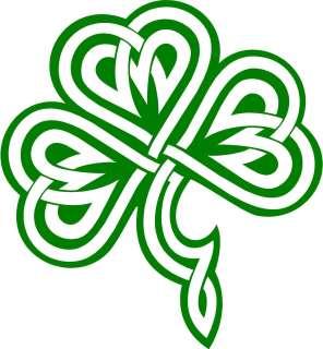 Irish Clover / Shamrock Celtic Knot Decal /Sticker  You Pick Color