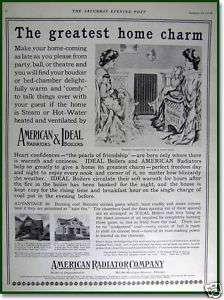 1910 American Radiator Company Ideal boilers print AD
