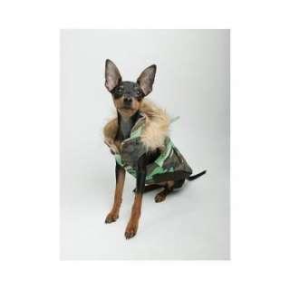 Green Camo Reversible Puffy Pet Dog Coat   Many Sizes