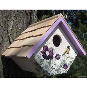 Printed Wren Hanging Birdhouse Anemone (Bird Houses)