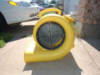 WINDSTAR 2500 3 SPEED 1/2 HP AIR MOVER BLOWER CARPET FLOOR DRYER