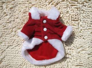 Christmas pet dog cat Clothes apparel Angell coat S XXL