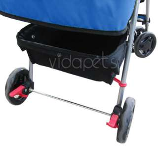 Navy Blue 4 Wheels Pet Dog Cat Stroller HEAVY DUTY