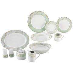 47 PC FINE PORCELAIN CHINA DINNERWARE DISH PLATE SET