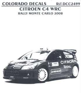 Colorado Decals 1/24 CITROEN C4 WRC Monte Carlo 2008