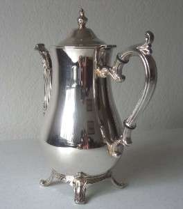 Wm. Rogers Silver Plate Tea/Coffee Pot Sugar Creamer