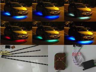 BLUE LED NEON UNDERBODY UNDER GLOW CAR LIGHT KIT