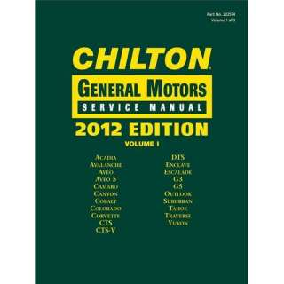 Chilton General Motors Service Manuals 3 Volume Set