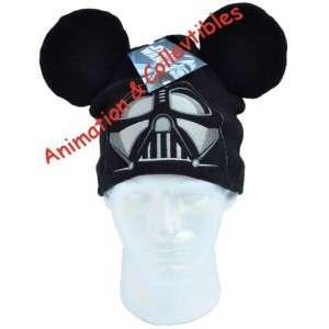 DISNEY Star Wars Darth Vader Mickey Mouse Ears Head Hat Beanie