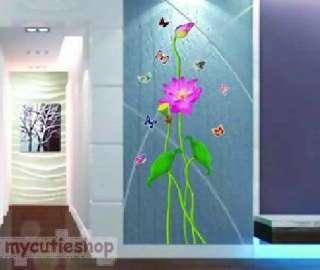 WALL DECAL ART Mural DECOR STICKER Home lotus flower