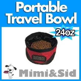 PORTABLE TRAVEL DOG BOWL FOLDABLE 24OZ SMALL SIZE FOOD