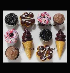 10 Miniature Choc Cookies, Donuts, Cupcakes, Ice Creams *Dollhouse