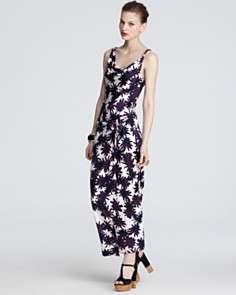 DIANE von FURSTENBERG Dress   Lou Long Printed Silk Jersey
