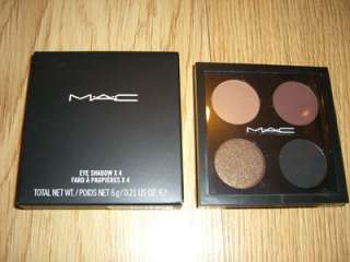 MAC EYE SHADOW X 4 * ATHMA * QUAD 6g NIB JAAN FOLIE VIVAH CARBON