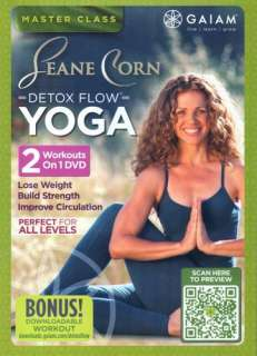 CORN DETOX FLOW YOGA MASTER CLASS DVD EXERCISE 2 WORKOUTS NEW SEALED
