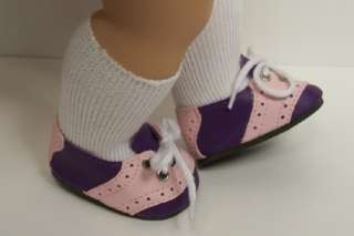 PURPLE Saddle Oxford Doll Shoes For Bitty Baby & Twin Girl♥