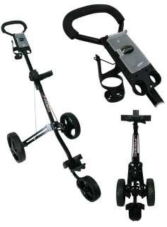 NEW Tartan Golf Firebird Deluxe 3 Wheel Push Cart   Black 092115008224