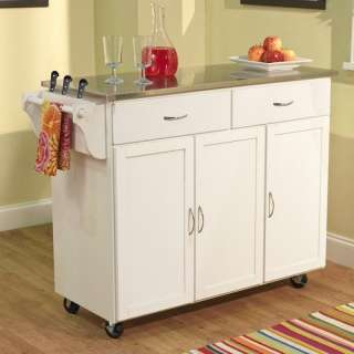 TMS Extra Large Kitchen Cart with Stainless Steel Top in