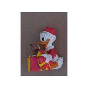 Donald Duck PVC Figure Christmas With Chipmunk On Hat Box