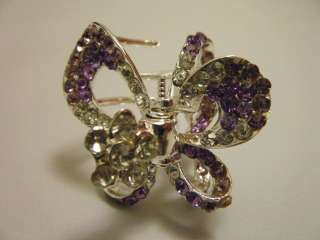 Victorian Style Crystal Rhinestone Hair Clip Claw Clamp