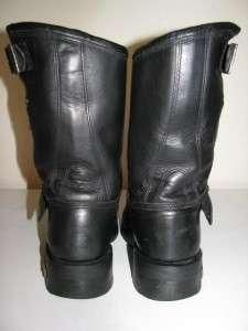 Harley Davidson Black Leather Motorcycle Boots Size 9.5M