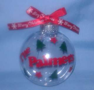Personalized fillable unbreakable Christmas Ornament   you can design