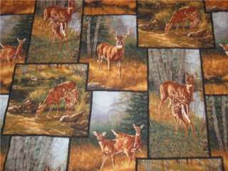 Handmade Table Runner Deer Wildlife Lodge Cabin Buck